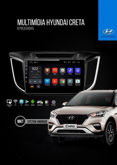 Central Multimídia Hyundai Creta Pcd 9 Pol Android 9 Tv Gps