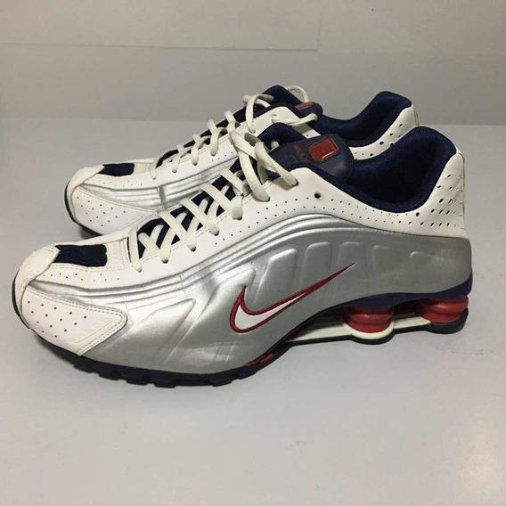 Tenis Nike Shox R4 Prata/azul - 41 Original