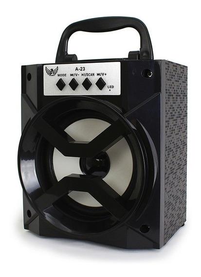 Caixa Som Bluetooth Radio Fm Potente Aux Caixinha Mp3 Usb