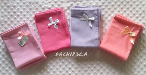 Paquete De 6 Pañales Para Bebé En Tela Lanilla Unicolor