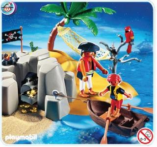Set De Juguete Playmobil Pirate Island Compact