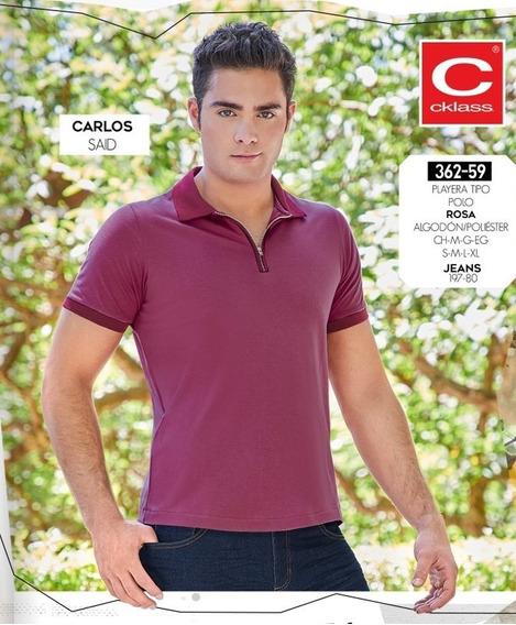 Cklass Playera Polo Caballero Rosa 362-59