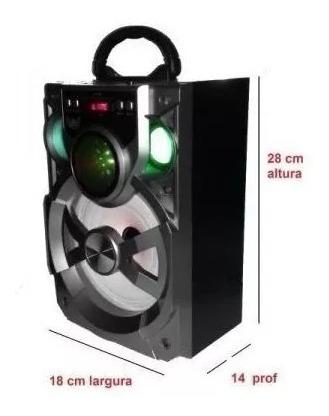 Caixa De Som Bluetooth Altomex A120 Usb Sd Rádio Fm Grande