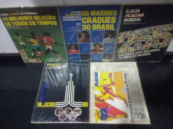 Lote 3 Album Figurinhas Da Revista Placar Completo 1980 Rjhm