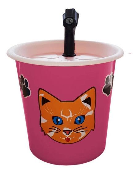 Bebedouro Fonte Para Gatos 2,5l Rosa