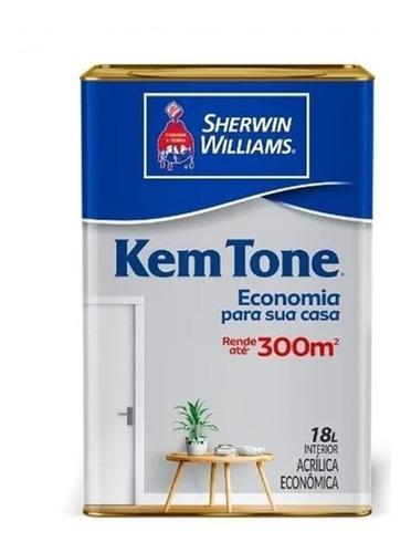 Imagem 1 de 2 de Tinta Latex Acrílica Kem Tone Branco Ou Gelo 18 L Sherwin