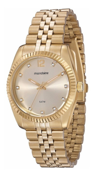 Relógio Mondaine Riviera Feminino Dourado Frete Gratis