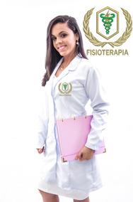 Bata Jaleco Fisioterapia Em Gabardine Italiano Feminino