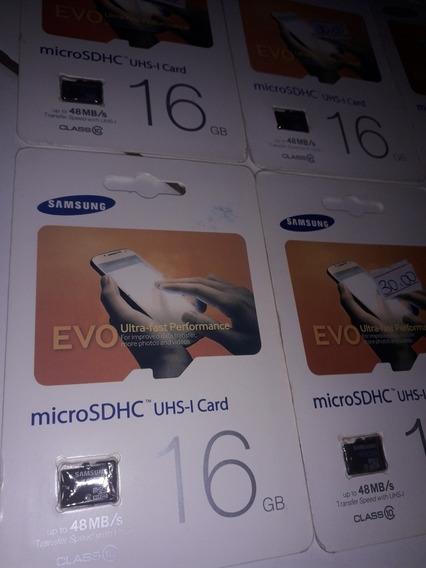 Lote 5 Micro Sd Samsung 16gb Novos