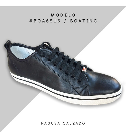Zapatillas Urbanas De Cuero Boating - Envío Gratis!!