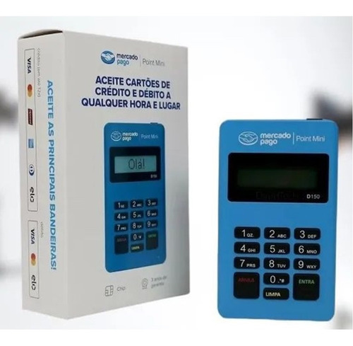Máquina De Cartão Débito E Crédito Mercado Pago Point Mini