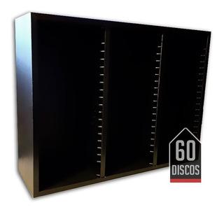Rack Porta Cds Full Madera Discos Audio Hifi Organizador