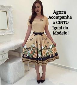 Lindo Vestido Boneca Longo Moda Modesta