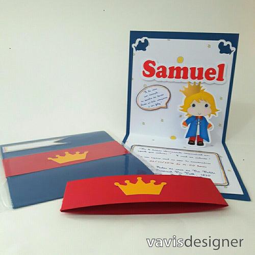 Imagem 1 de 6 de Convite Pop Up 3d - Pequeno Príncipe (10 Unid/outros Temas)