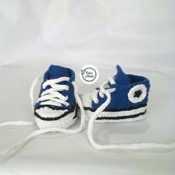 Zapatos Tejidos Bebe Escarpines Converse Botas Tenis