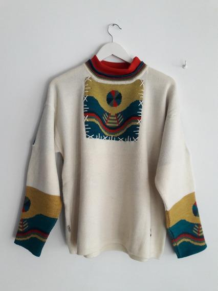 Sweater De Lana Sangre Azteca Talle L