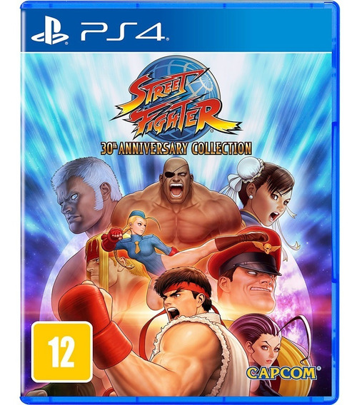 Jogo Ps4 Street Fighter 30th Anniversary Collection - Novo
