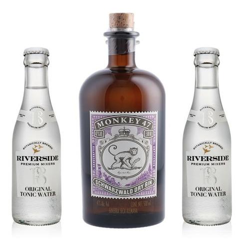 Kit Gin Monkey 47 500ml + 2 Água Tônica Ultra Light 200ml
