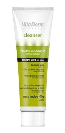 Creme Esfoliante Peeling Laranja Cleanser - 100g - Vita Derm