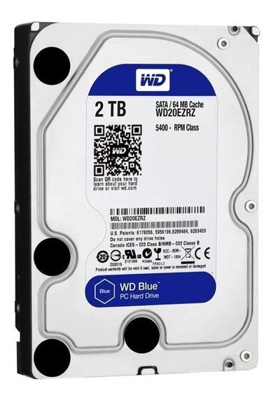 Disco Rígido Western Digital Wd Blue 2tb 5400rpm Noaweb