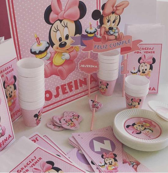 Cotillón Infantil Personalizado Minnie Bebé X 20
