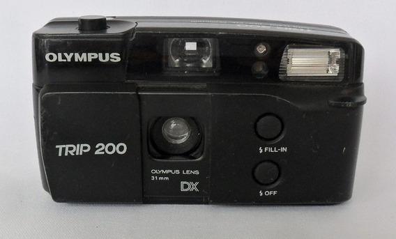 Câmera Máquina Fotográfica Antiga Olympus Trip 200 Coleção