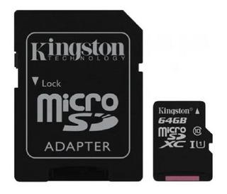 Memoria Micro Sd 64gb Clase 10, Adaptador Sd - Macrocel