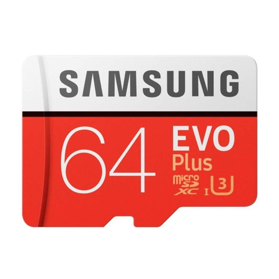 Kit Cartão Samsung Micro Sdxc Evo 64gb Classe 10