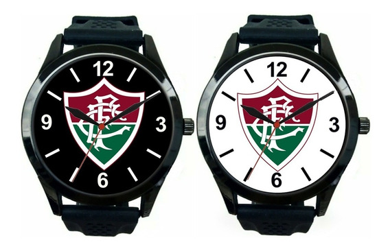 Kit 2 Relógios Pulso Masculino Fluminense Barato Promoção