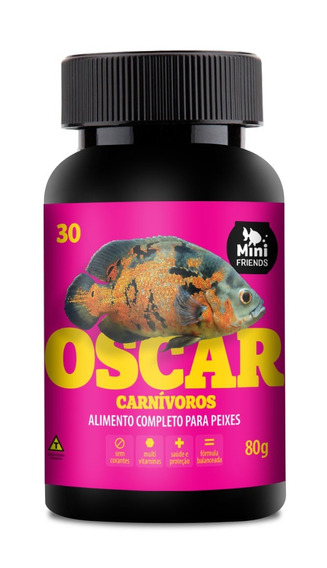 Mini Friends - Alimento Premum Para Peixe Oscar - 80 G