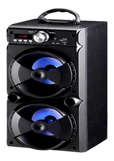 Caixa De Som Amplificada 25w Bluetooth Rádio Fm E Entrada U
