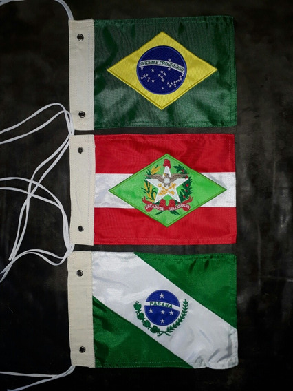 Kit Bandeira Moto Brasill, Santa Catarina,paraná, Bordado