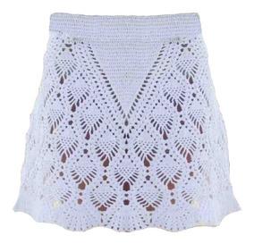 0bdb1469a Falda Pollera Tejido Crochet Otoño Invierno Primavera Verano