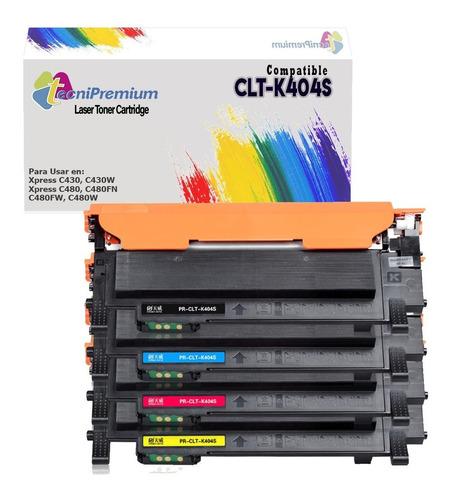Kit 4 Colores Samsung 404 Para Impre C430 C430w C480fw C480w