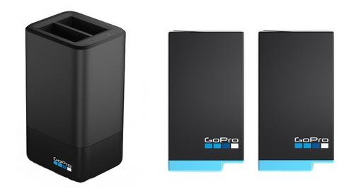 Imagen 1 de 3 de Cargador Doble Gopro + 2 Baterias Para Max 360