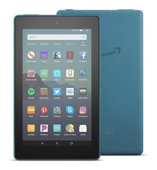 """Tablet Amazon Fire 7 KFMUWI 7"""" 16GB twilight blue com memória RAM 1GB"""