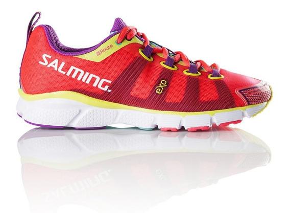 Zapatillas Salming Enroute W Rojo/rosa - Corner Deportes