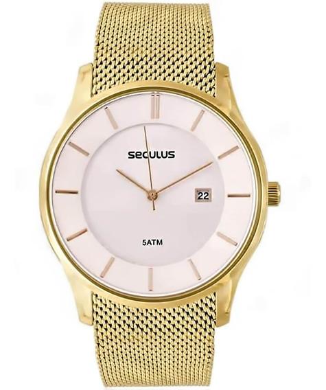 Relógio Feminino Seculus Analógico 20430gpsvda4 Dourado
