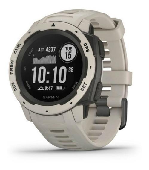 Relógio Multiesportivo Garmin Instinct Branco Com Monitor