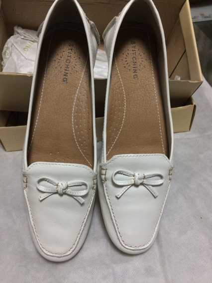 Zapatos Dama Blancos Grimoldi Hush Puppies Talle Nº 38- Bra