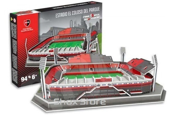 Estadio Newells Old Boys Maqueta Puzzle 3d Cancha Coloso