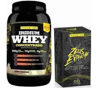 Kit Massa Muscularr Zeus Extreme + Whey Protein Iridium Labs