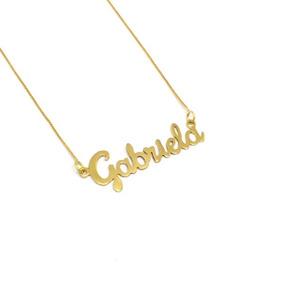 Cordão De Ouro 18kl Com Nome Personalizado Promoção