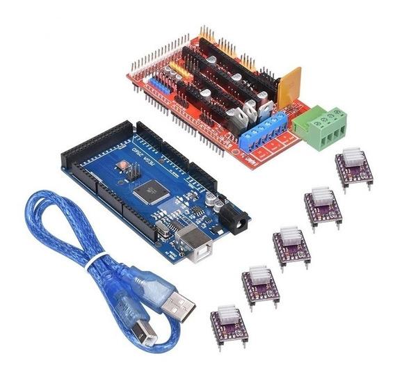Kit Ramps 1.4 + 5 Drv8825 + Mega 2560 R3