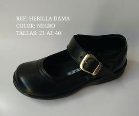 Zapatos Para El Colegio Colegiales Mafalda Mujer Cuero Negro