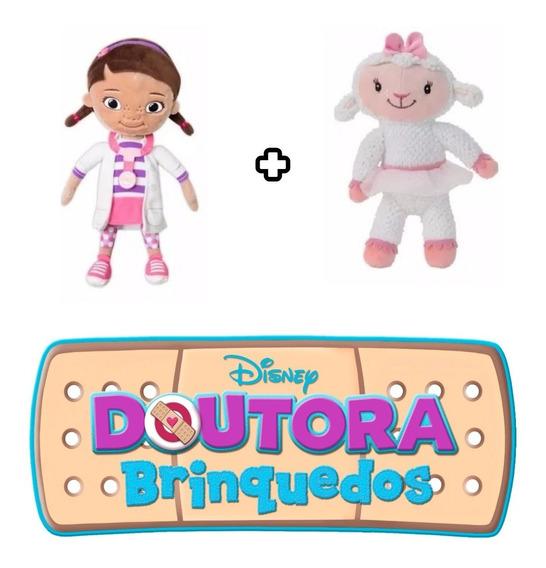 2 Pelúcias Boneca Doutora Brinquedos Ovelha Lambie Na Caixa