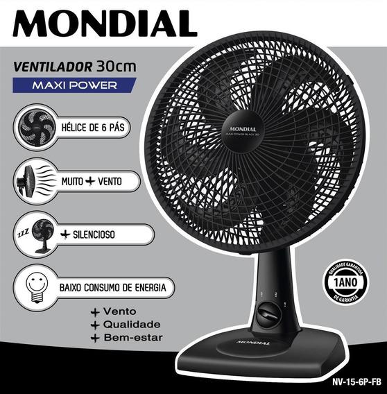 Ventilador Mondial Maxi Power Nv-15-6p-fb