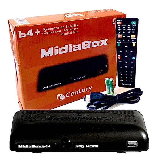 Receptor Midiabox B4 Century Hd Digital Conversor Midia Box