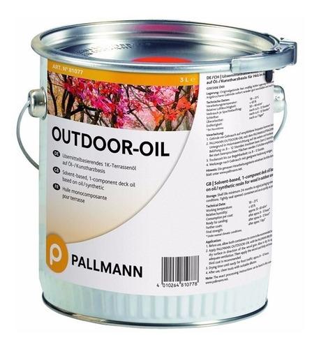 Aceite Para Deck Pallmann Outdoor Oil 1k 3 Lts