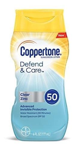 Imagen 1 de 7 de Coppertone Y Cuidado Defender Claro Zinc Loción De Protecció